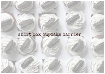 shirt box cupcake carrier