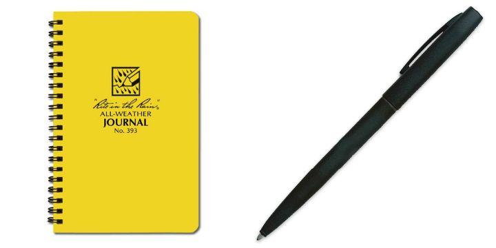 waterproof pad and pen