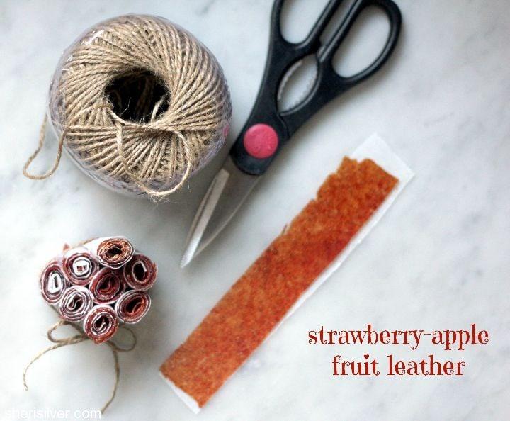 strawberry apple fruit leather