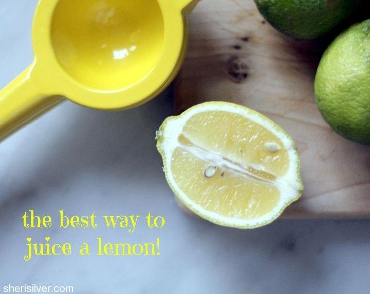 the best way to juice a lemon