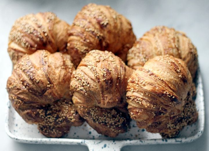 city bakery, pretzel croissants