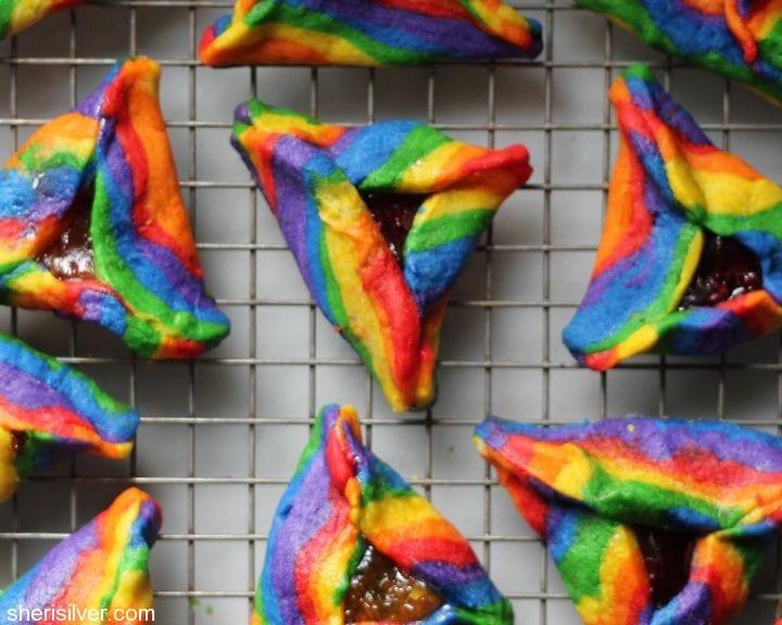 rainbow hamantaschen