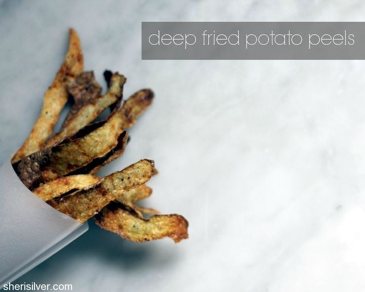 deep fried potato peels