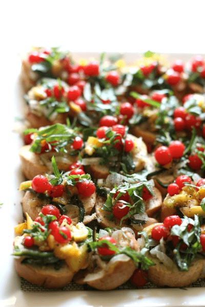 my life at playtime farm to table bruschetta