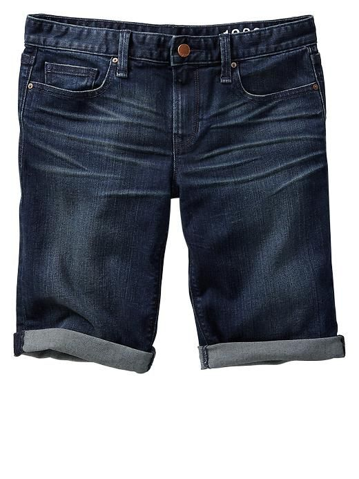 gap long denim shorts