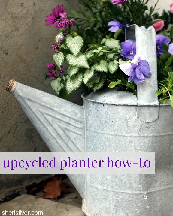 upcycled planter how-to