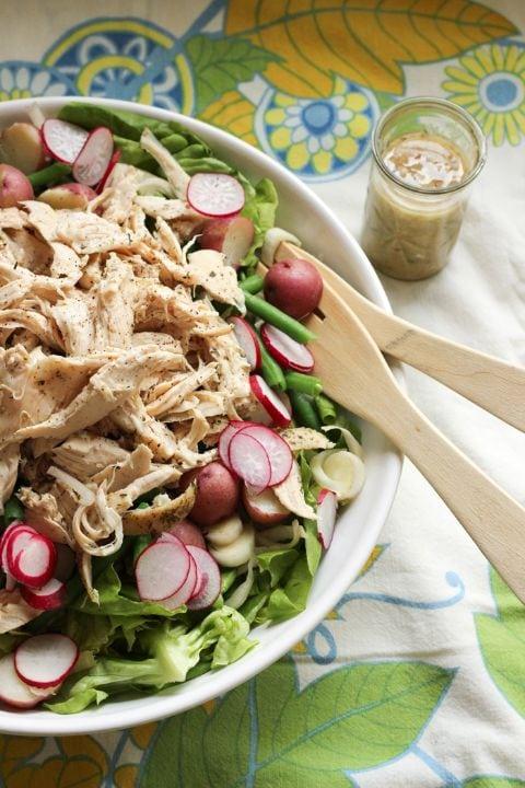 susie makes supper chicken salad with haricots vert
