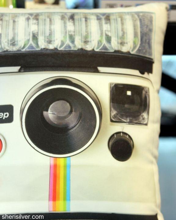 story, in the seam polaroid camera pilow