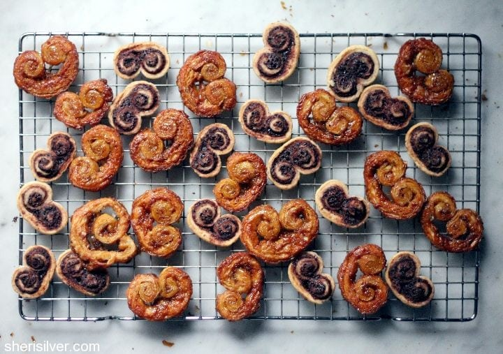 chocolate espresso and gingersnap palmiers
