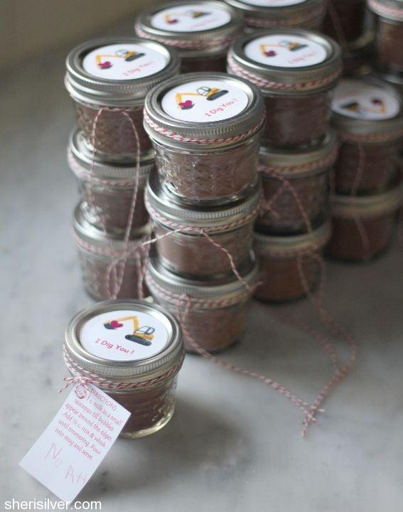 mason jar hot cocoa mix