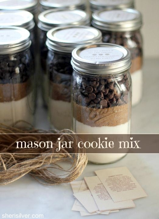 mason jar cookie mix