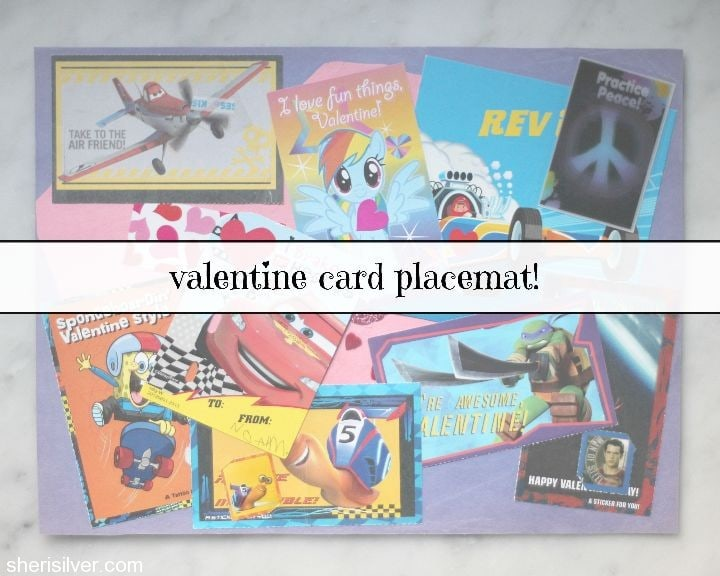 valentine card placemat