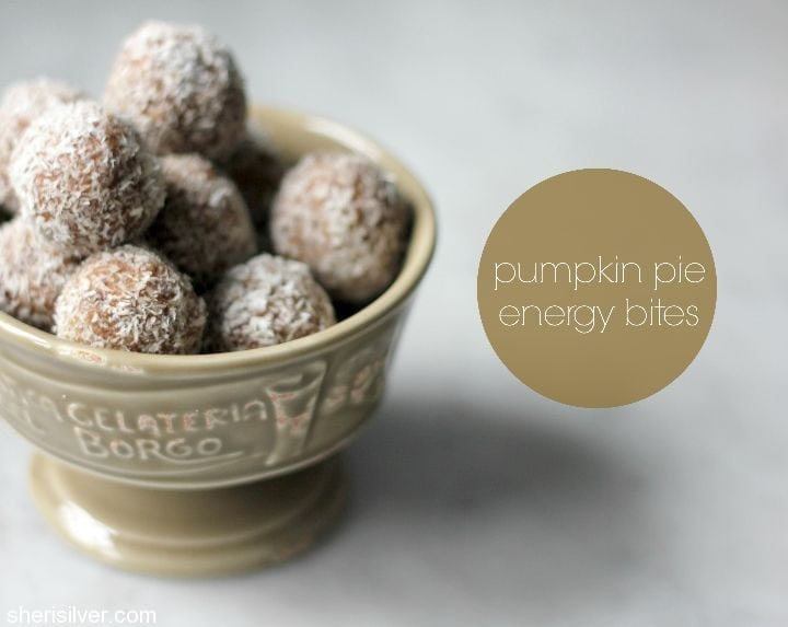 pumpkin pie energy bites