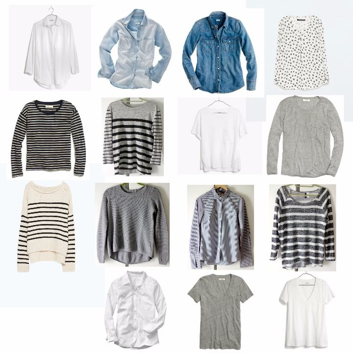 AM15 capsule wardrobe tops