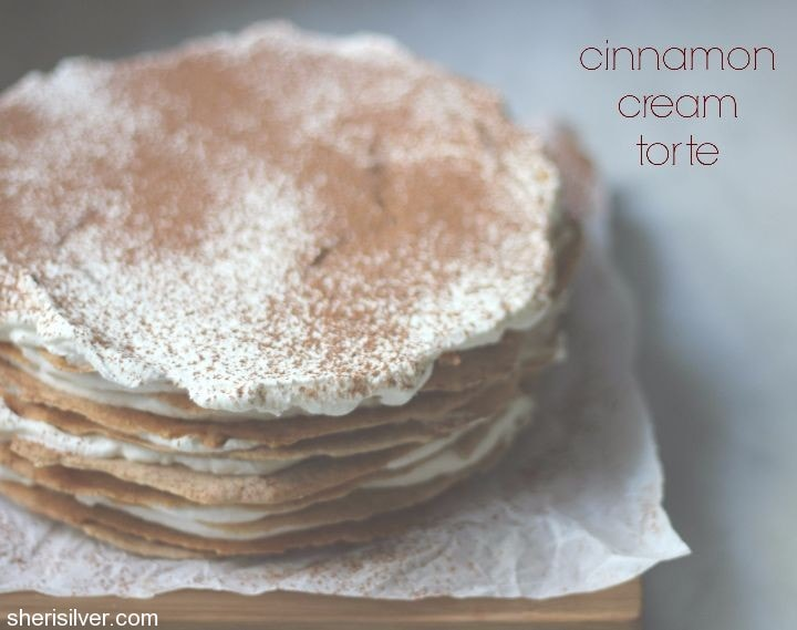 cinnamon cream torte