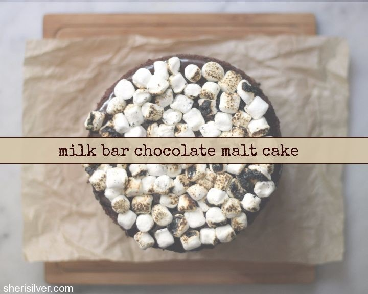 milk bar chocolate malt cake