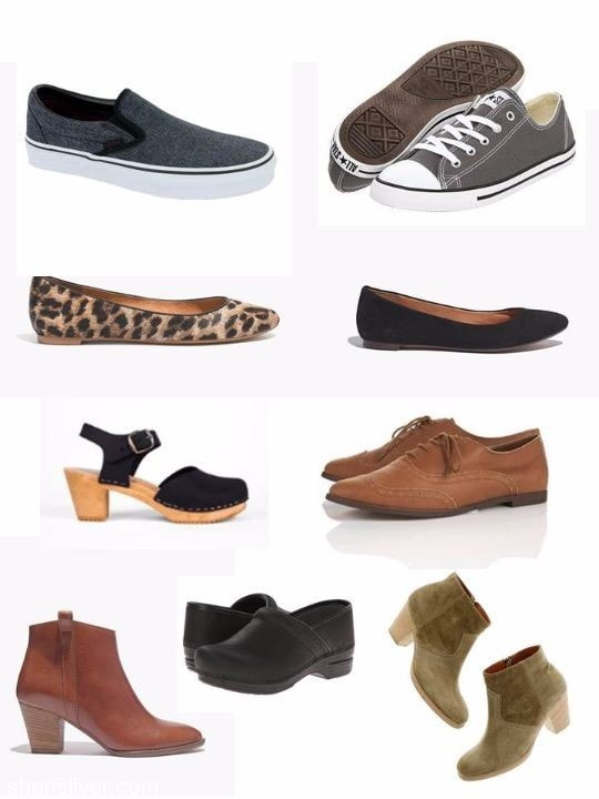 o/n15 capsule wardrobe shoes