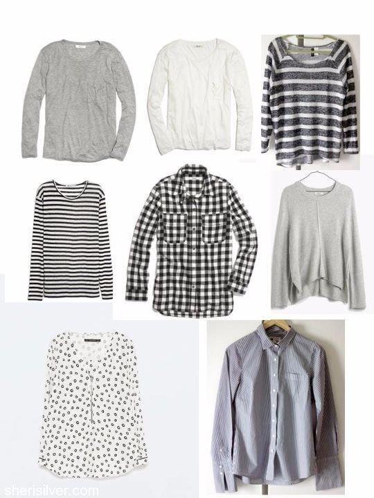 o/n15 capsule wardrobe tops