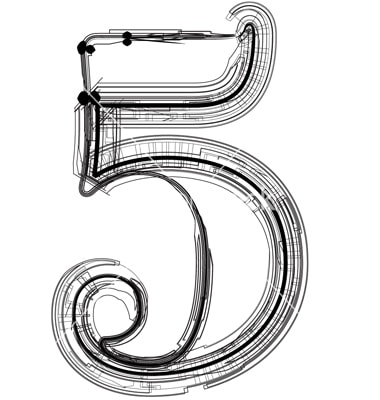 Technical typography. Number