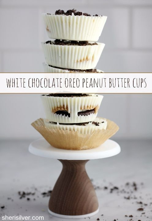 white chocolate oreo peanut butter cups