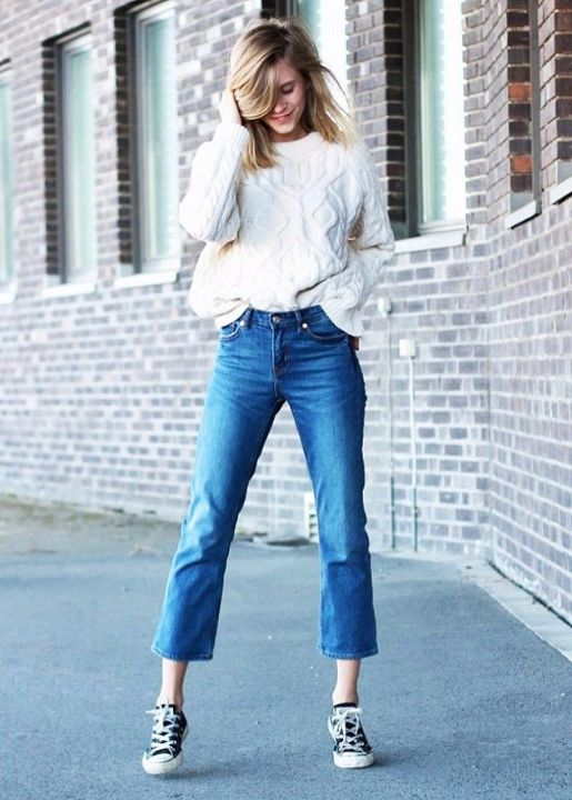 the fashion eaters cropped flared denim