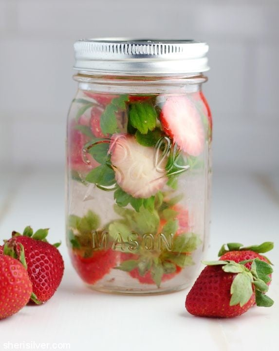 How to Make Strawberry Water l sherisilver.com