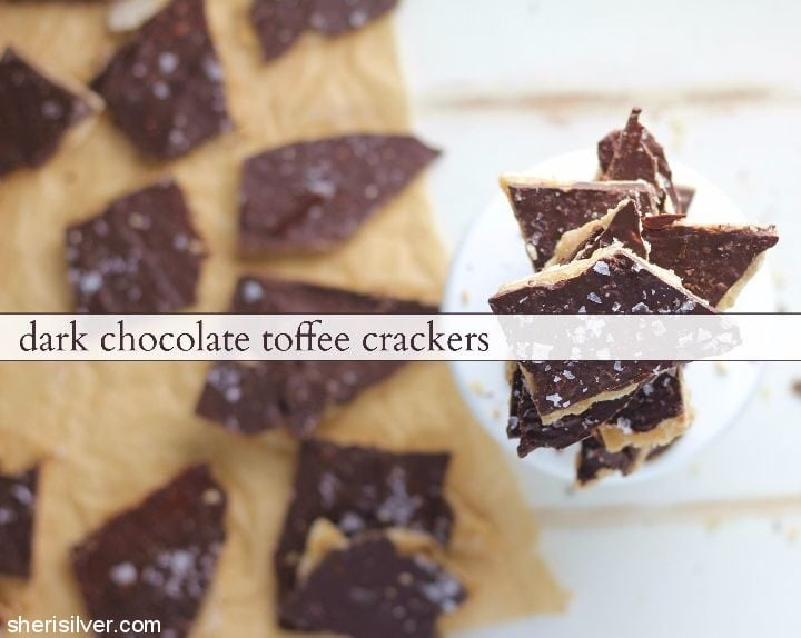 dark-chocolate-toffee-crackers #ad