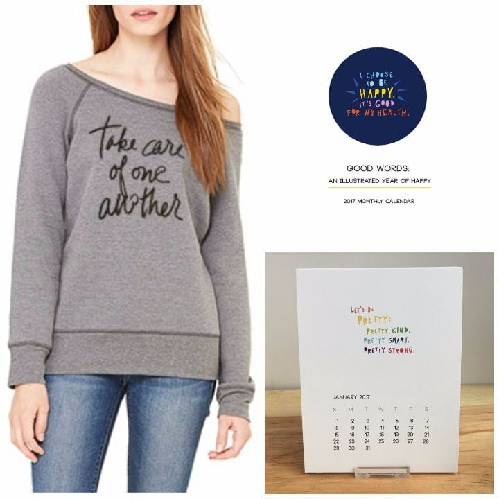 good in store good words calendar take care of one another sweatshirt