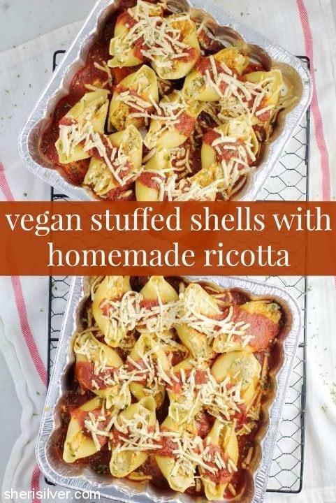 vegan stuffed shells homemade ricotta