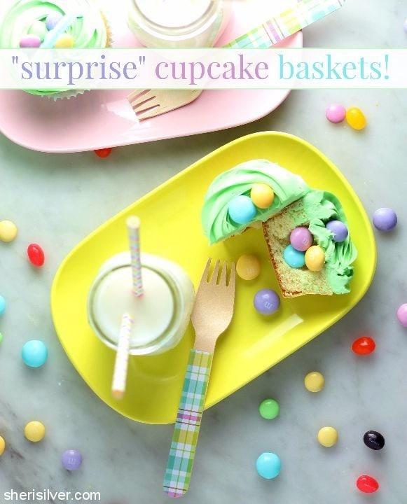 surprise cupcake baskets #ad