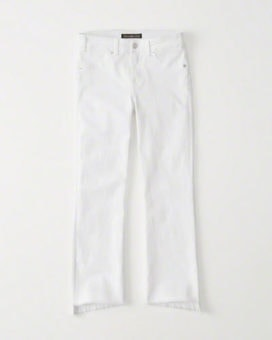 abercrombie white flared jeans