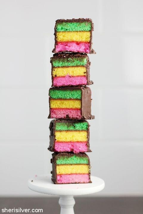 Rainbow Cookie Popsicles l sherisilver.com