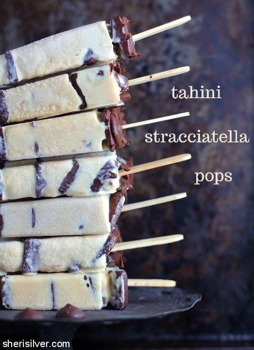 Tahini Stracchiatella Pops l sherisilver.com