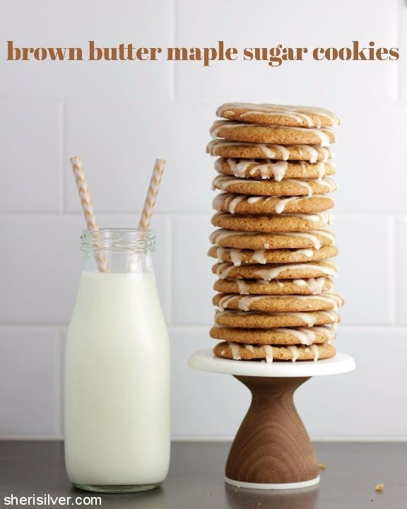 Brown Butter Maple Sugar Cookies l sherisilver.com
