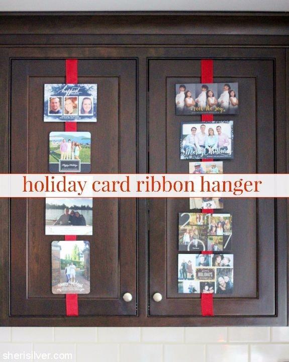 Holiday Card Ribbon Hanger l sherisilver.com
