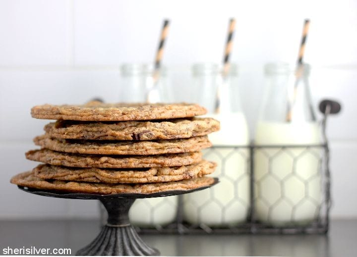 Pan Banging Chocolate Chip Cookies l sherisilver.com