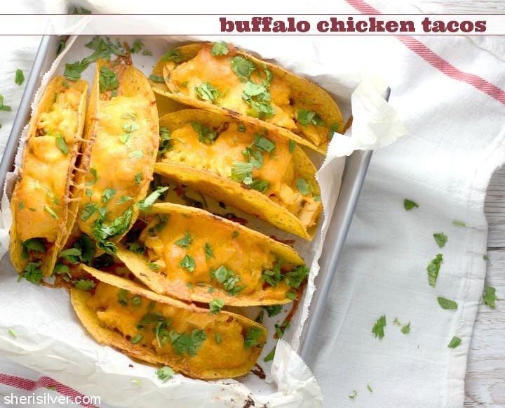 Buffalo Chicken Tacos l sherisilver.com