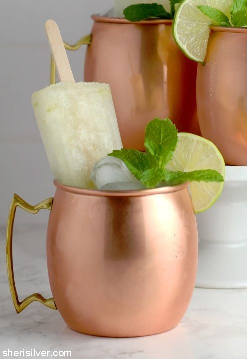 Moscow Mule Popsicles l sherisilver.com