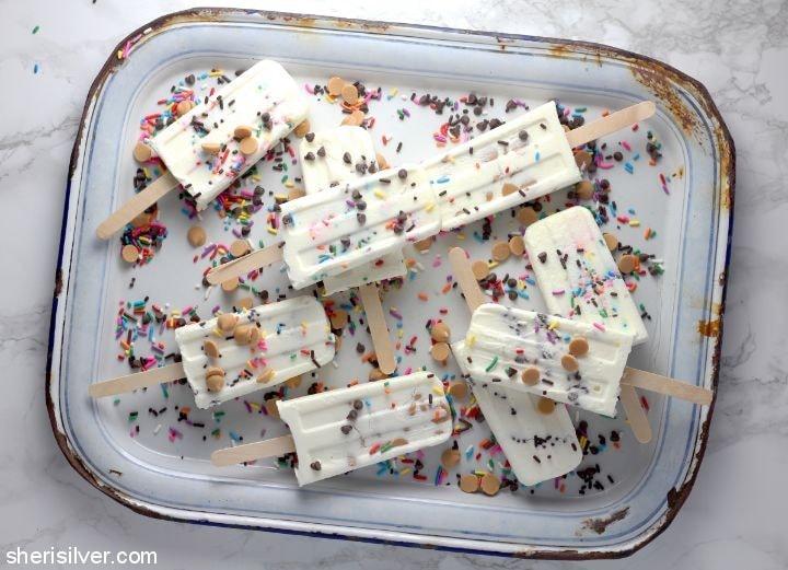 Cake Batter Popsicles l sherisilver.com