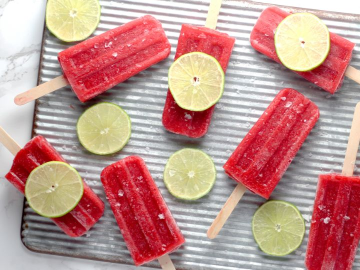Livestrong Strawberry Margarita Pops