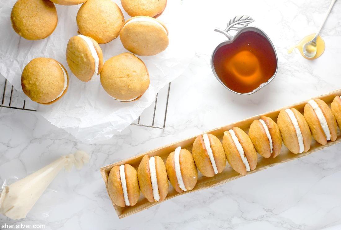 Honey Cake Whoopie Pies l sherisilver.com