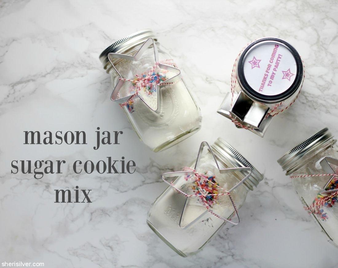 Mason Jar Sugar Cookie Mix l sherisilver.com