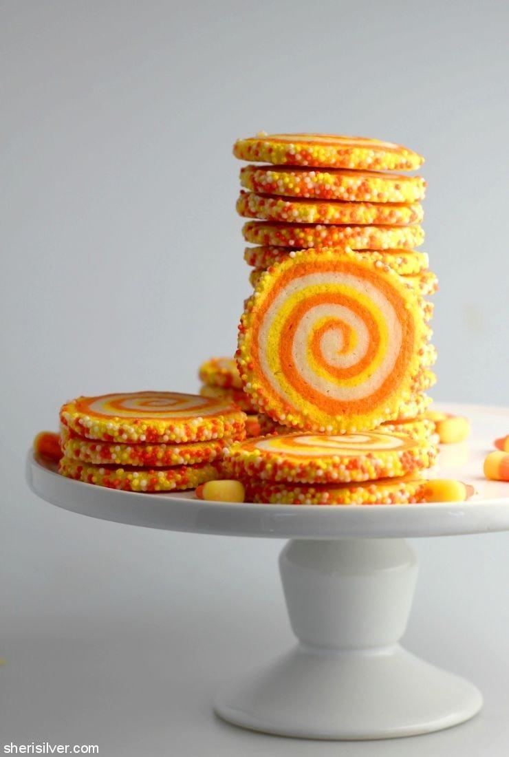 Candy Corn Spiral Cookies l sherisilver.com