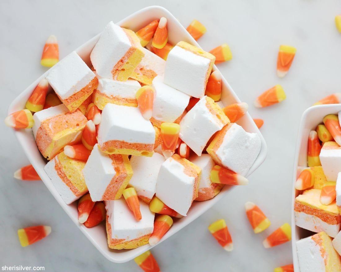 Candy Corn Marshmallows l sherisilver.com