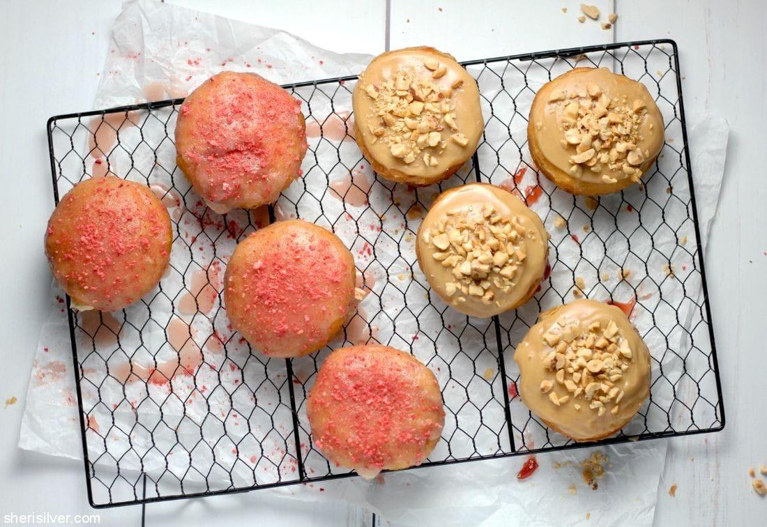 Peanut Butter Jelly Doughnuts l sherisilver.com
