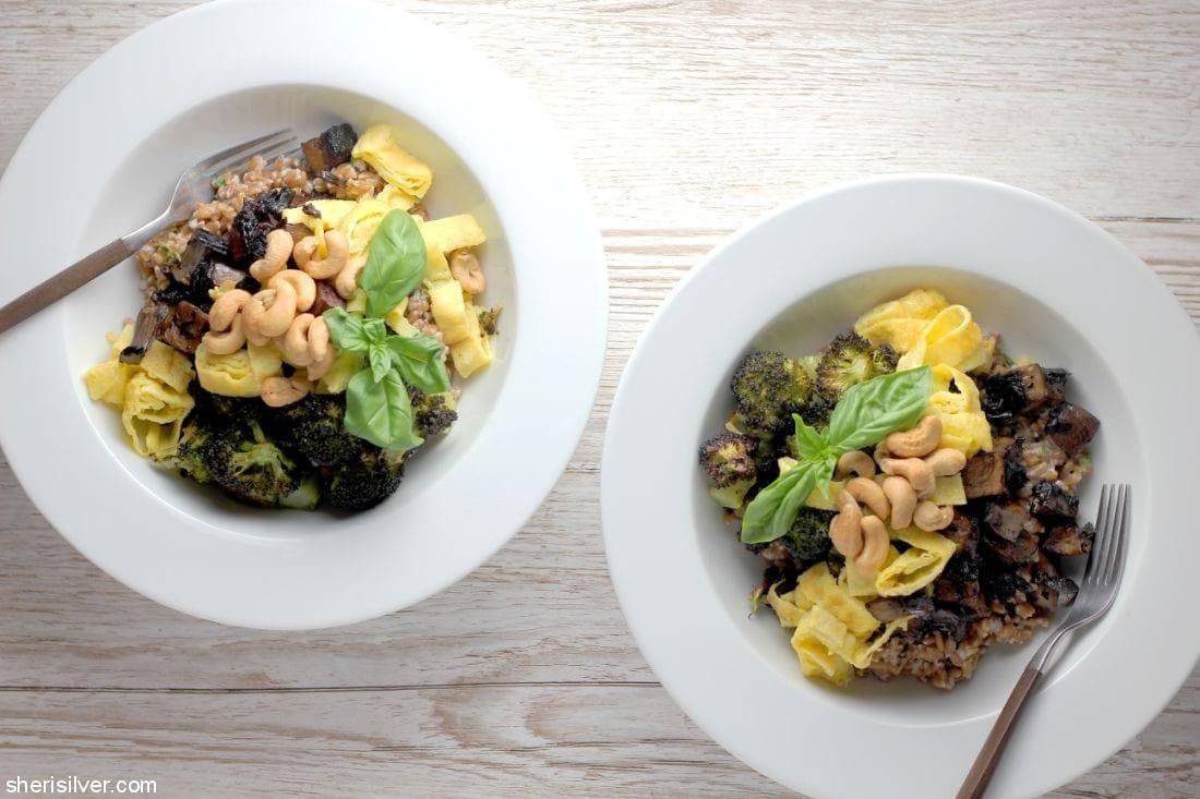 Mushroom and Broccoli Grain Bowl l sherisilver.com