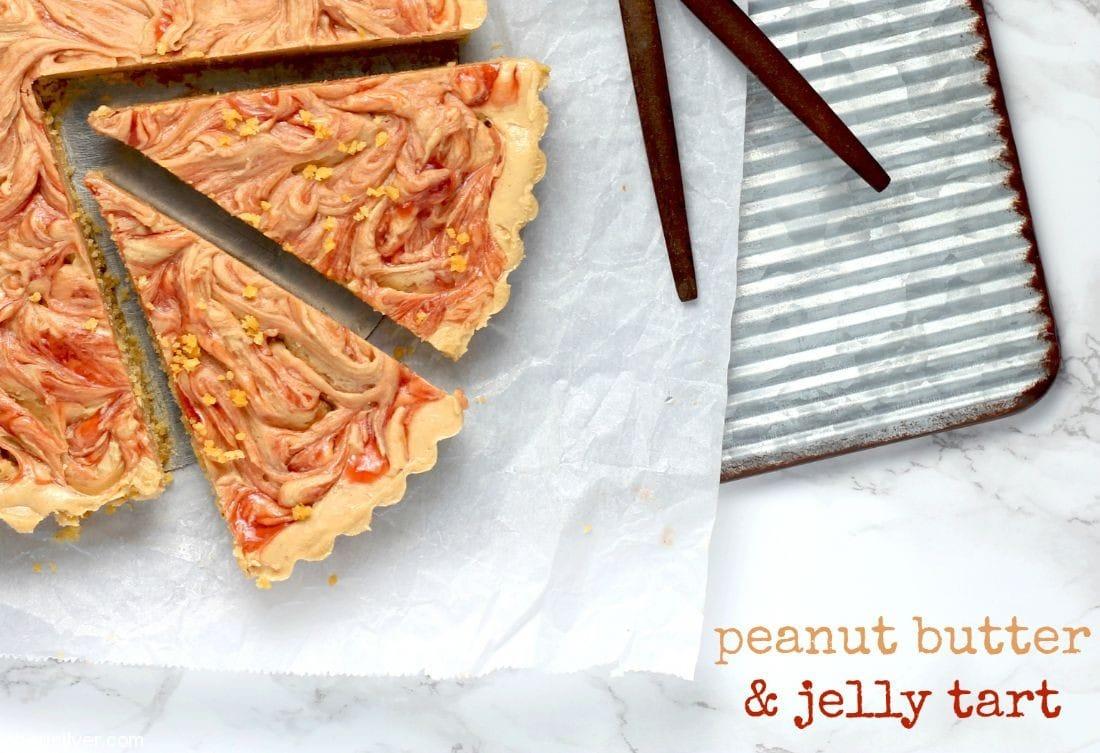 Peanut Butter & Jelly Tart l sherisilver.com