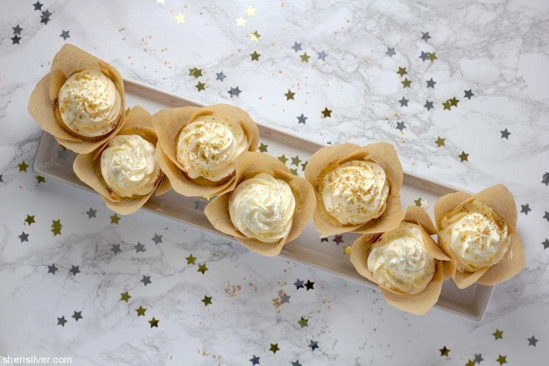 Champagne Cupcakes l sherisilver.com