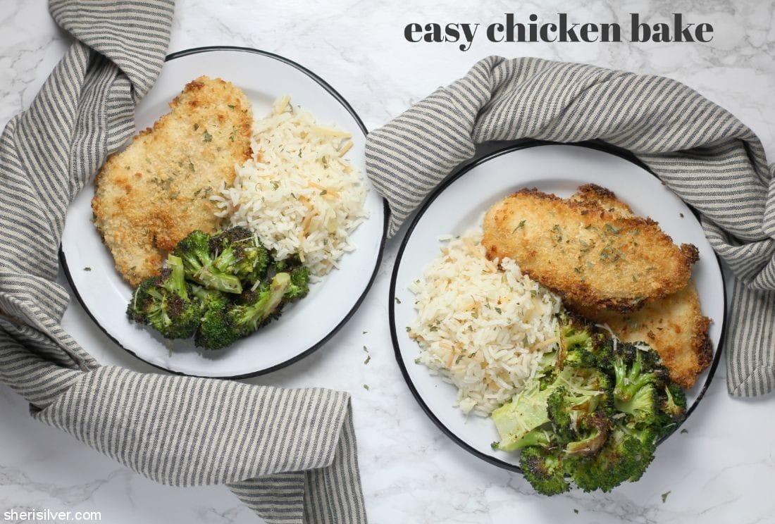 Easy Chicken Bake l sherisilver.com #ad