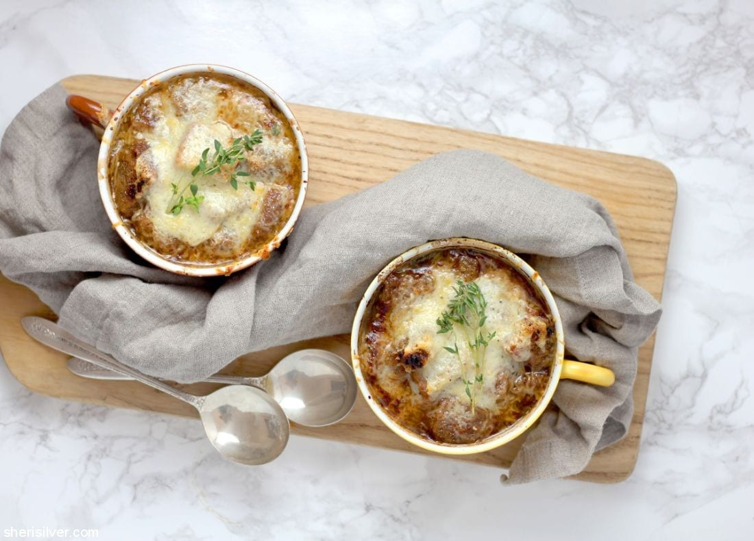 French Onion Soup with Everything Croutons l sherisilver.com #ad